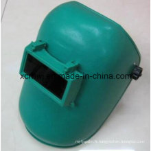 Casques de soudure les plus bas avec des lentilles, Masque de soudure simple bleu, Masque de matériau PP, Masque de soudage au niveau de l'ombre supérieur