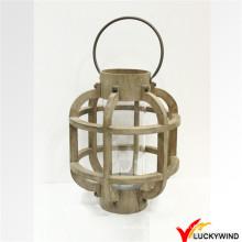 Bougie Tealight Suspendue Banc en bois Table Lanterne extérieure Décoration de fête