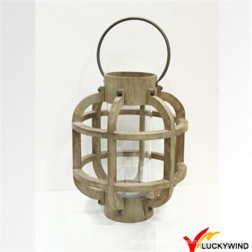 Teelicht-Kerze hängende hölzerne Tischbank-im Freienlaterne-Partei-Dekoration