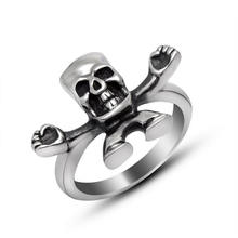 Мужчины кольцо 316L Нержавеющая сталь ювелирные изделия панк Байкер готический Стиль