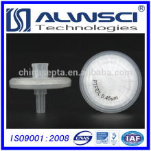 HPLC PTFE Filtro de seringa hidrófã 13mm 0.22um filtro de seringa