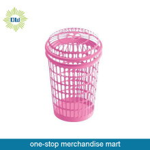PP Material Hollow Out Laundry Basket With Cover