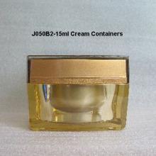 Forma cuadrada tapa acrílica tarro de crema J050B2