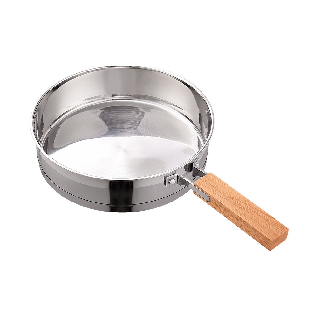Frying Pan With Wooden Handle