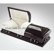E.U. estilo sólido caixão madeira mogno (70H 0014)