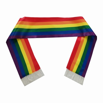 Custom Polyester Rainbow Printing LGBT Scarf