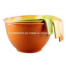 Melamine Serving Salad Bowl with Handle (BW4646)