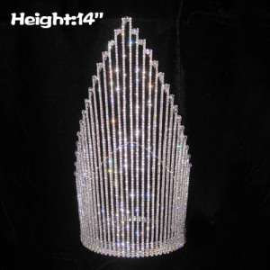 Grandes coronas de reina de 14 pulgadas con grandes cristales