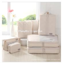 Organizador de equipaje de viaje Bolsas de embalaje Cubos Bolsa 7pcs Viaje Set Bolsa