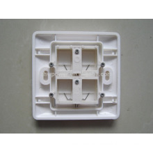 4 port face plate, ethernet face plate rj45 wall plate,rj45 socket wall face plate with cheap price
