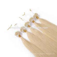 Usine En Gros Remy Brésilien micro boucle extension de cheveux 1g 8-30 pouce micro anneau cheveux pour revendeur