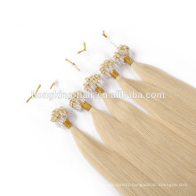 Factory Wholesale Remy Brazilian micro loop hair extension 1g 8-30 inch micro ring hair for reseller