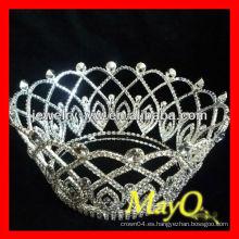 Corona redonda de la princesa del diamante, diseños similares disponibles, corona redonda del desfile, tiara nupcial de la joyería