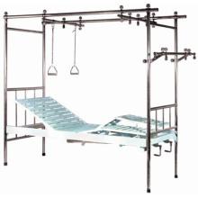 Cama de hospital de tres ortopedias de acero inoxidable