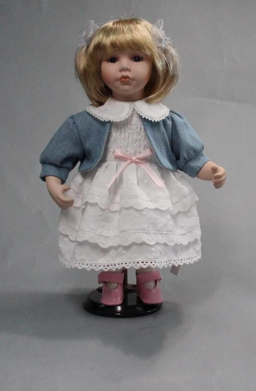 Porcelain Doll White Skirt
