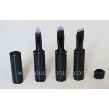 3PCS Silicone Makeup Brushes Black Eyeshadow Brush Set