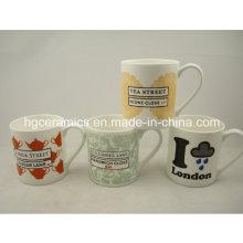 Taza de China del hueso de ceniza, taza fina de 10oz