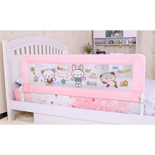 Pink Safety Bed Rails For Children With Woven Net Flat / Embedded Type