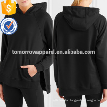 Black And White Jersey Hooded Top OEM/ODM Manufacture Wholesale Fashion Women Apparel (TA7008H)