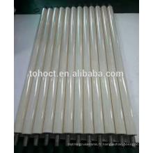 Tige en céramique brillante de surface de polonais isolant / alumine résistant à l'usure / zircone en céramique tube de tube de tige de faisceau