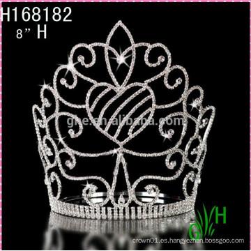 2015 Nueva corona grande barata de la tiara de la manera del desfile