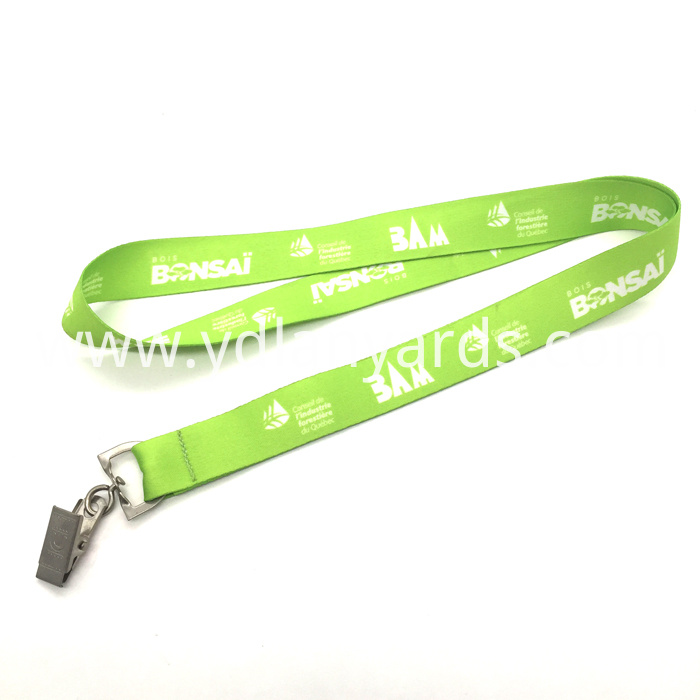 Nametag Lanyard with Bulldog Clip