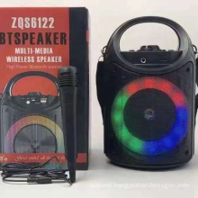 ZQS6122 New Style Mobile 4 Inch Outdoor Party Portable Ktvt Trolley Speaker With Led Light