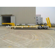 60ton Sinotruk lit bas semi-remorque pour transporter des équipements et conteneur