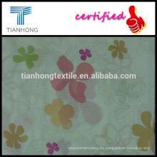 peso ligero de crema fondo dobby geométricas estilo ver a través de 100 floral impreso algodón para la ropa