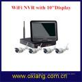 Cámara NV de 4 canales NVR WiFi Kit Cámara Full HD Pantalla NVR