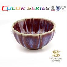 Conjunto de vajilla hermosa, tazón de fuente de porcelana de gres para el regalo