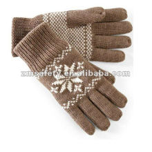 Men Acrylic Fashion Winter Warm Knitted Gloves