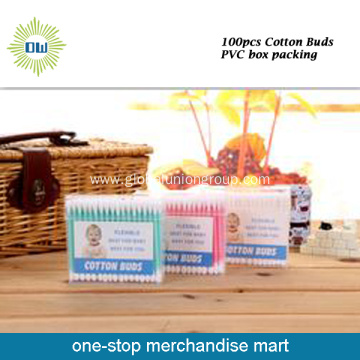 Plastic Stick Lint Free Cotton Buds