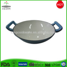 Commercial enamel coating big cast iron wok