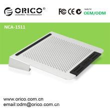 2012 más nuevo todo el cojín de enfriamiento ORICO NCA1511 del ordenador portátil de aluminio 14inch