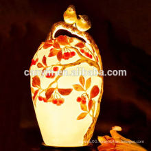 Autumn scenery theme bulk ceramic fancy tall lamp shades