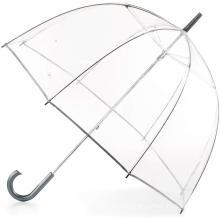 Women's see throught dome shape transparent plastic clear bubble umbrella