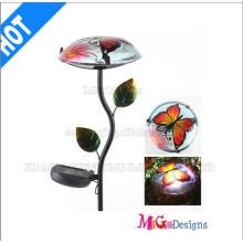 Garden Stake Metall und Glas Pilz Solarleuchten