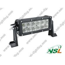 Barra de luz de trabalho LED CREE 36W de 7,5 polegadas desligada 4X4 LED Barra de luz