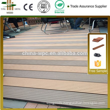 wpc laminate decking for outdoor flooring