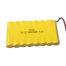 Paquet de batterie de 9.6v 400mah aaa avec le câble et le connecteur