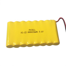 9.6v 400mah AAA Battery Pack With Cable and Connector