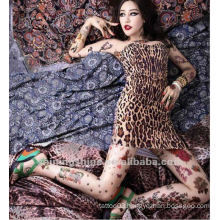 2016 new fashion sexy lady skin tattoo T-shirt and sleeve socks for party star