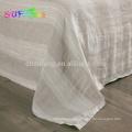 Folha plana 4pcs 100% linho puro linho cama conjunto tampa de cama