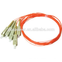Telecommunication level 900um/2.0mm/3.0mm SC multimode fiber optic pigtail direct buy China