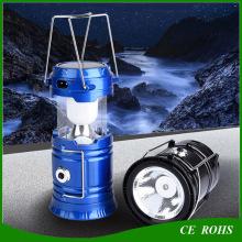 Faltbares Solar-Campinglicht mit elektrischer Taschenlampe Notfall-Taschenlampe
