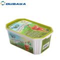 caja de plástico de comida para gatos
