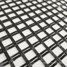 100Kn Knitted Fiberglass Geogrid For Road Construction Geogrid Material Asphalt Reinforcement