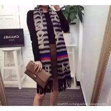 Полосовой жаккардовый флисовый шарф