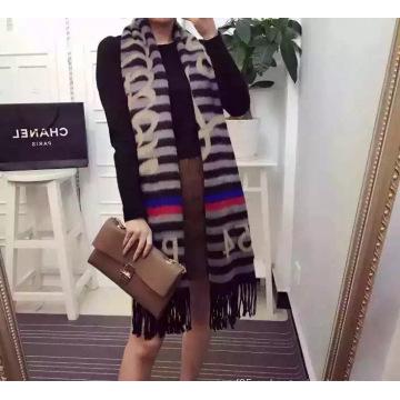 Bufanda de lana con estampado de Jacquard